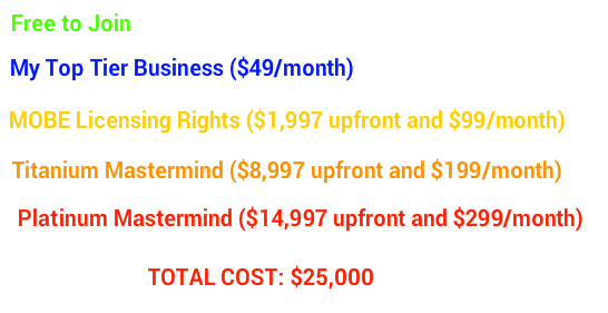 my online business empire cost