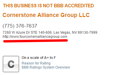 four corners alliance group Better Business Bureau