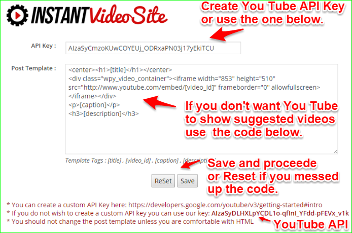 Instant video websites