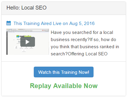 Wealthy Affiliate Local SEO